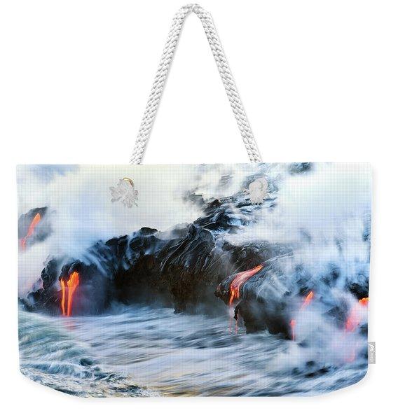 Lava Flow Weekender Tote Bag