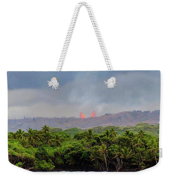 Lava Fountain Weekender Tote Bag