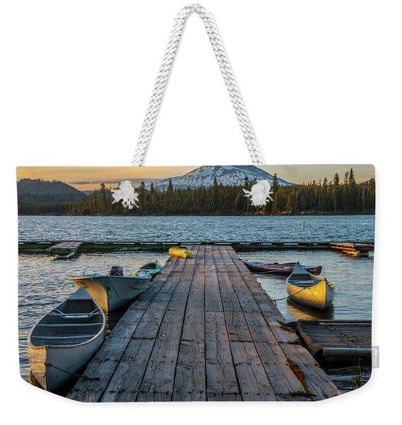 Lava Lake Evening  Weekender Tote Bag