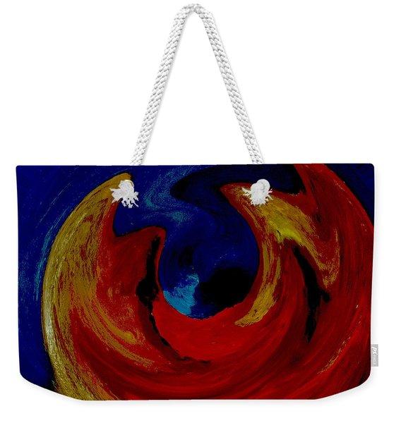 Lava Ocean Weekender Tote Bag
