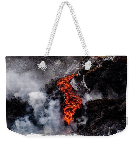 Lava Snake Weekender Tote Bag