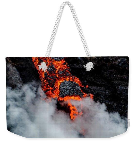 Lava Train Weekender Tote Bag