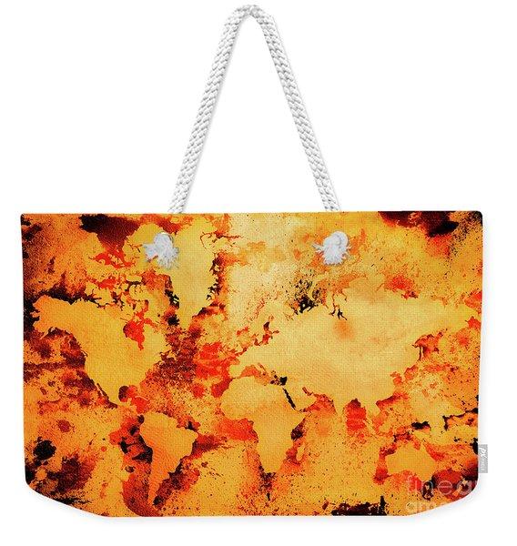 Lava World Map Weekender Tote Bag