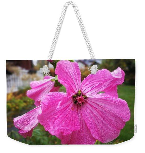 Lavatera Flower Weekender Tote Bag