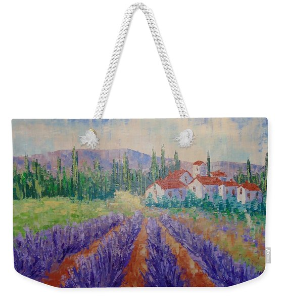 Lavender And Village Of Provence Weekender Tote Bag