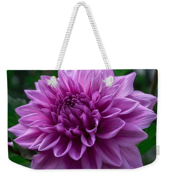 Lavender Dahlia Weekender Tote Bag