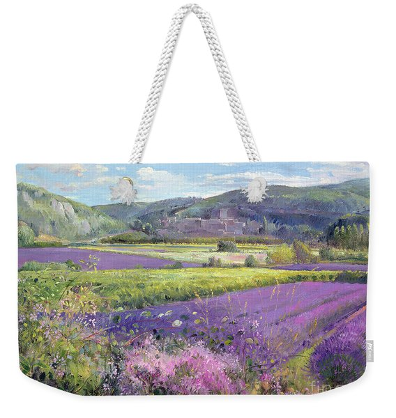 Lavender Fields In Old Provence Weekender Tote Bag