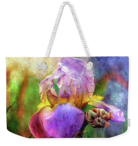Lavender Iris Impression 0056 Idp_2 Weekender Tote Bag