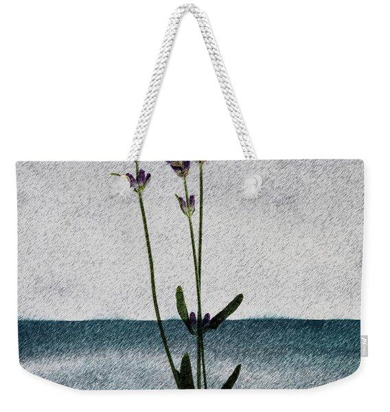 Lavender Ocean Breath Weekender Tote Bag