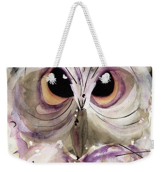 Lavender Owl Weekender Tote Bag