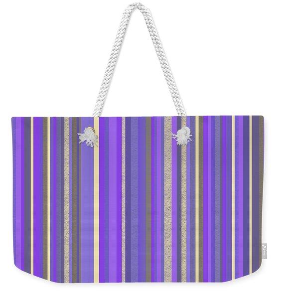 Lavender Twilight - Stripe Abstract Weekender Tote Bag