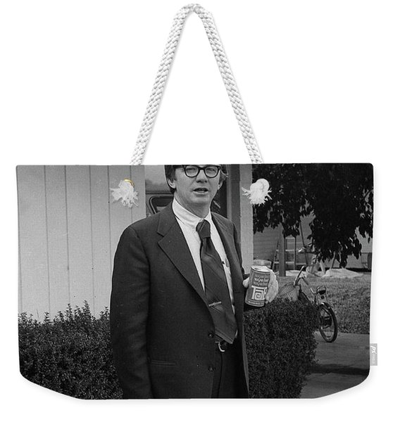 Lawyer With Can Of Tab, 1971 Weekender Tote Bag