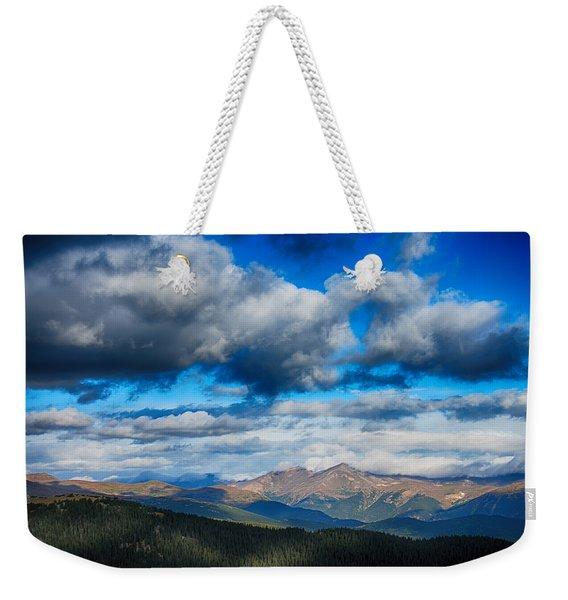 Layers Of Clouds On Mount Evans Weekender Tote Bag