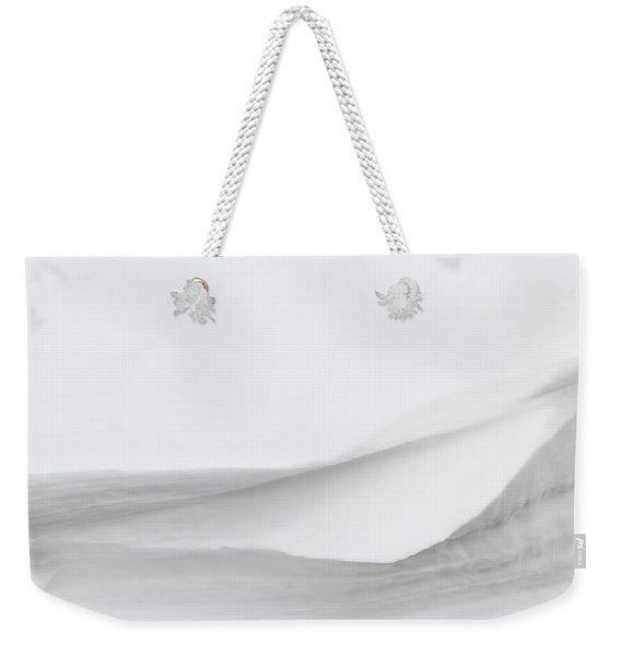 Layers Of Snow Weekender Tote Bag
