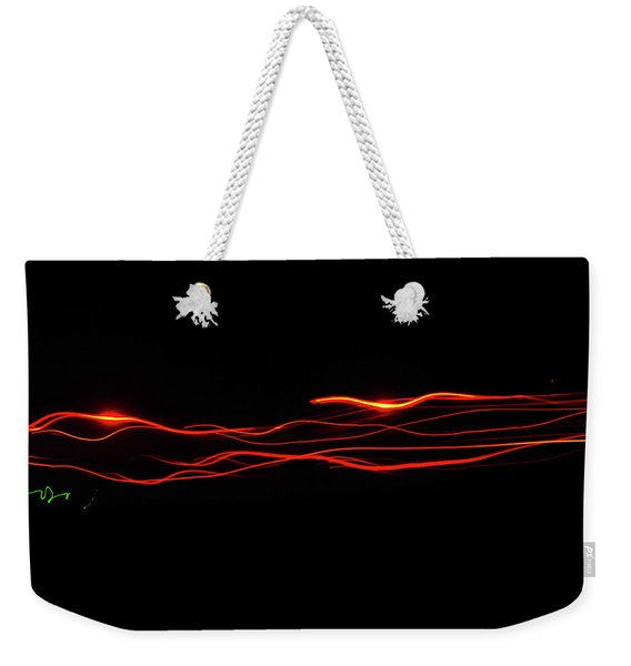 Weekender Tote Bag featuring the photograph Lazer by Scott Cordell