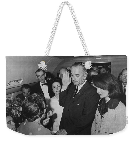 Lbj Taking The Oath On Air Force One Weekender Tote Bag