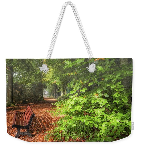 The Abbey's Bench Weekender Tote Bag