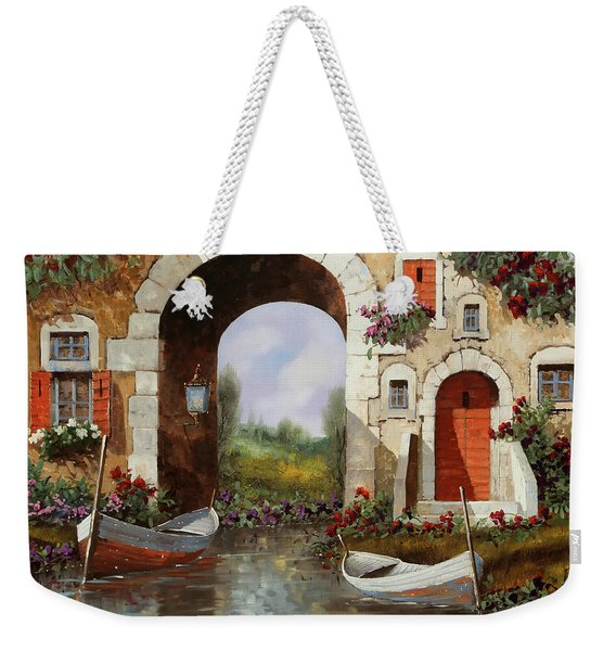 Le Barche Sotto L'arco Weekender Tote Bag