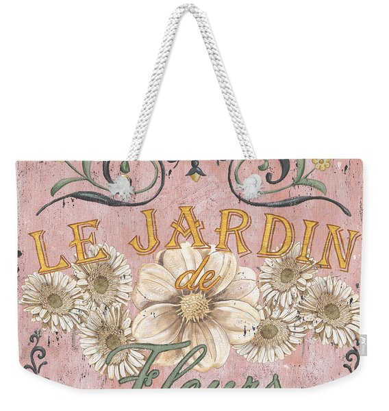 Le Jardin 1 Weekender Tote Bag