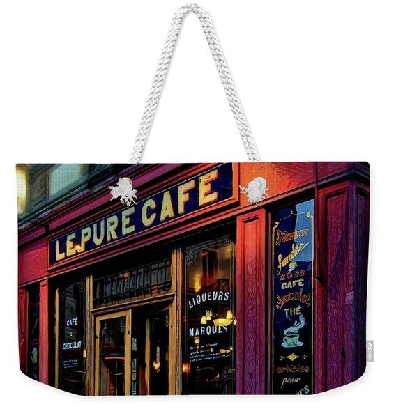 Le Pure Cafe - Paris Weekender Tote Bag