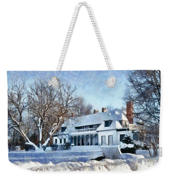 Leacock Museum In Winter Weekender Tote Bag