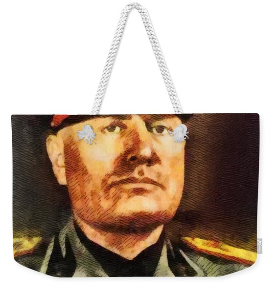 Leaders Of Wwii - Benito Mussolini Weekender Tote Bag