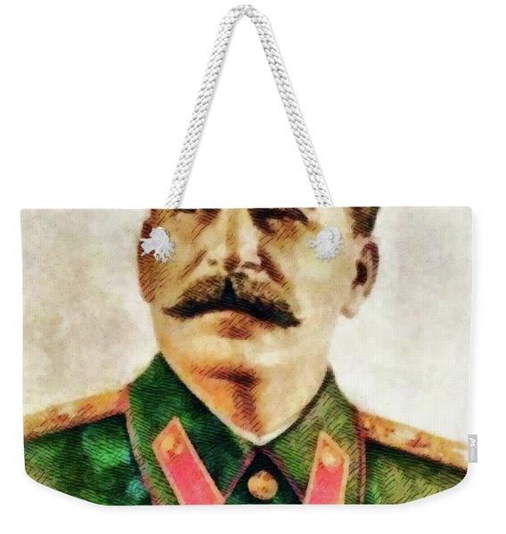 Leaders Of Wwii - Joseph Stalin Weekender Tote Bag