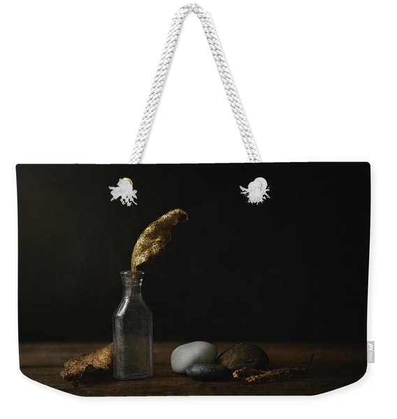 Leaf Bottle Rocks Weekender Tote Bag