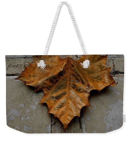 Weekender Tote Bag featuring the photograph Leaf Cross by Patricia Strand