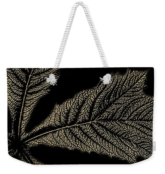 Leaf Detail Weekender Tote Bag