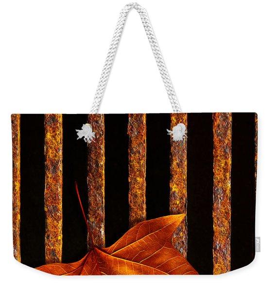 Leaf In Drain Weekender Tote Bag