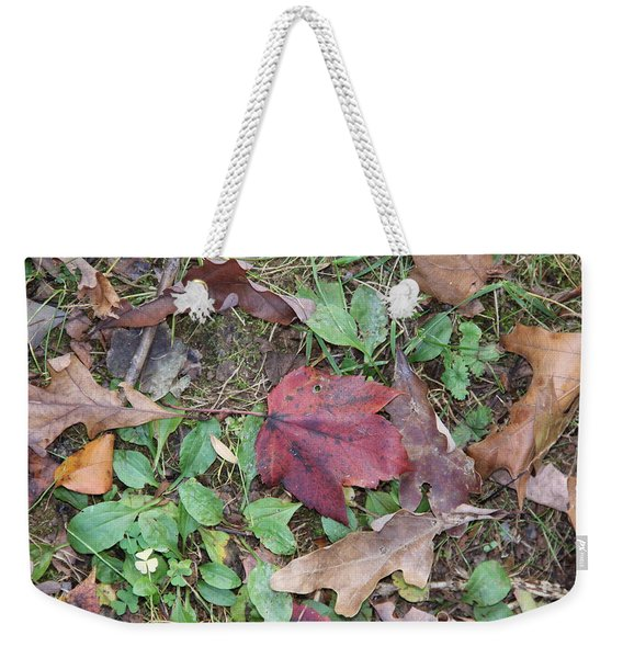 Leaf Standing Out In A Crowd Weekender Tote Bag