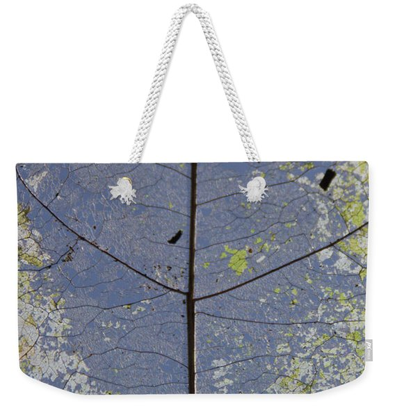 Weekender Tote Bag featuring the photograph Leaf Structure by Debbie Cundy