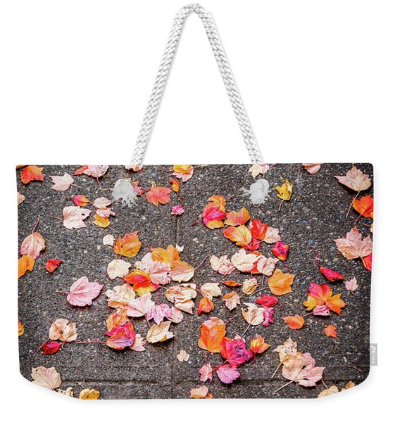 Leafy Autumn Walk Weekender Tote Bag