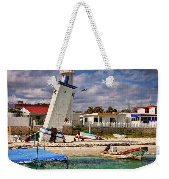 Leaning Lighthouse Weekender Tote Bag