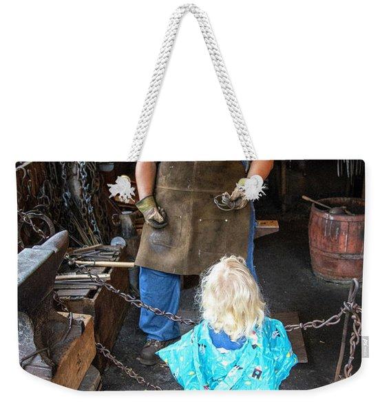 Learning About Metal Weekender Tote Bag