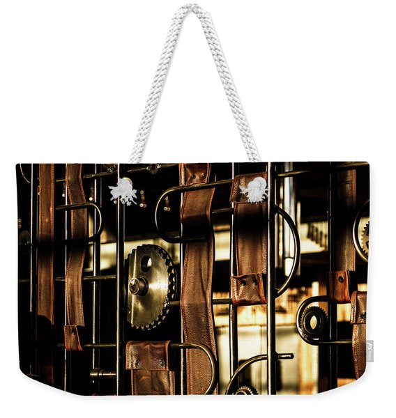 Leather Straps At The Harley Davidson Museum Weekender Tote Bag