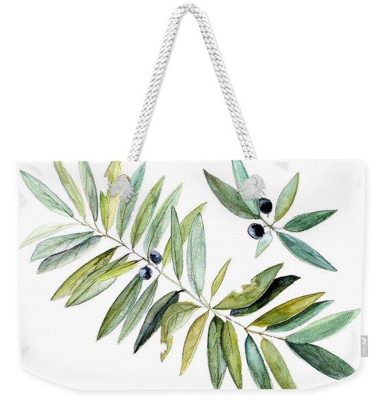 Leaves And Berries Weekender Tote Bag