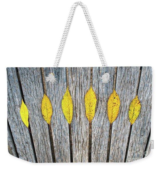 Leaves And Lines Weekender Tote Bag