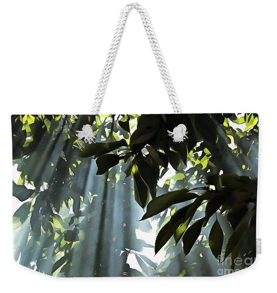 Leaves In The Sun Weekender Tote Bag