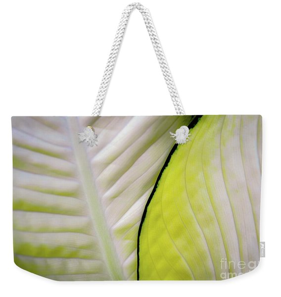 Leaves In White Weekender Tote Bag