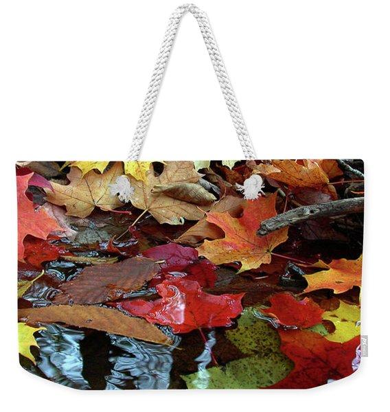 Leaves Of Color Weekender Tote Bag