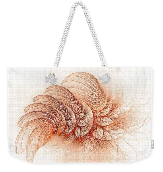 Leaves Of The Fractal Ether-2 Weekender Tote Bag