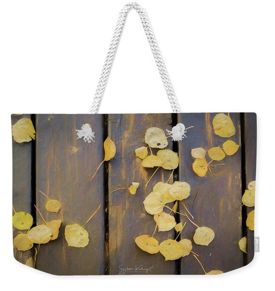 Leaves On Planks Weekender Tote Bag