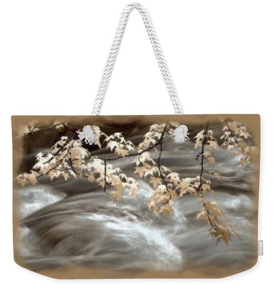 Leaves Over Gossamer Waters Weekender Tote Bag