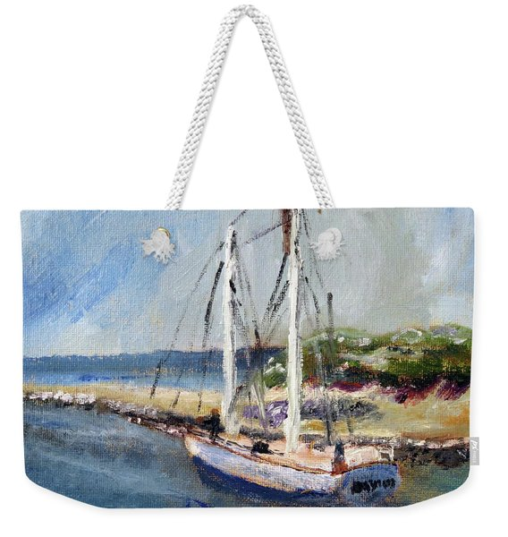 Leaving Sesuit Harbor Weekender Tote Bag