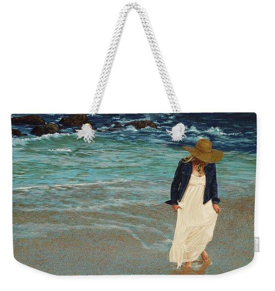 Leaving The Beach Weekender Tote Bag