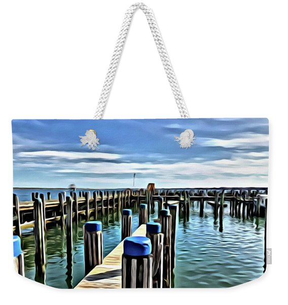 Leaving The Harbour Weekender Tote Bag
