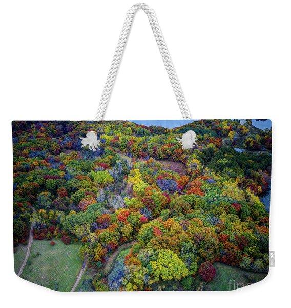 Lebanon Hills Park Eagan Mn Autumn II By Drone Weekender Tote Bag