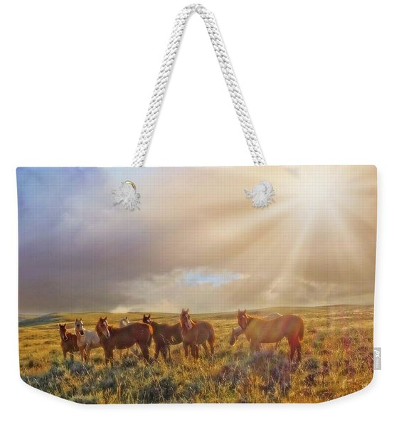 Led By The Light Weekender Tote Bag